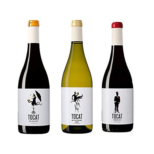 Tocat de l'Ala Blanc, Negre y Tocat i Posat – D.O. Empordà – Pack 3 botellas Tocat de l'Ala – Crianza 3 a 13 meses – Selección Vins&Co – 750 ml