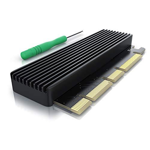 CSL - PCIe Erweiterungskarte für M.2 Key-M SSDs - Low Profile Format - Adapterkarte - bis zu 3938 Mbyte s - NVMe Standard statt AHCI - PCIexpress statt SATA - PCIe x4 oder x16