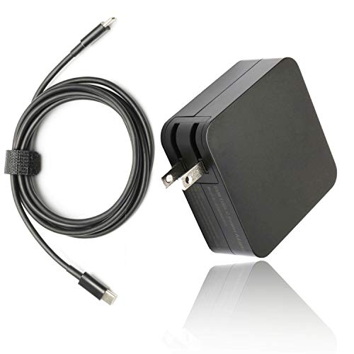 65W Type USB C Charger for MacBook Pro, Lenovo Yoga 720 730 370 910, Hp Elite x2 1012 Charger, Acer, Xiaomi Air, Huawei Matebook, HP Spectre, Lenovo Thinkpad Series with Type C Power Cord