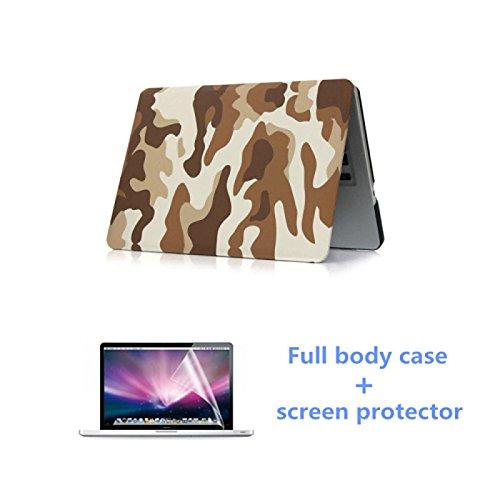 """Tiankaid Camuflaje de Moda Caja de Cuerpo Completo con Protector de Pantalla HD para el macbook Retina 13.3""""(Colores Surtidos), Gray"""