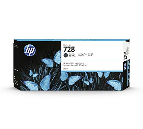 HP 728 Nero Matte 300-ml F9J68A, Cartuccia Originale ad alta capacità, con HP Ink, compatibile con Stampanti per Grandi Formati HP DesignJet Serie T730 e T830 e con Testina di Stampa DesignJet HP 729