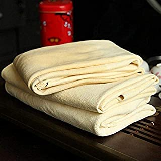 Trainshow Cleaning Chamois Shammy for Car, Natural Deerskin Leather Drying Cleaning Towel..