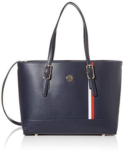 Tommy Hilfiger Damen Honey Med Tote, Blau (Sky Captain), 1x1x1 cm