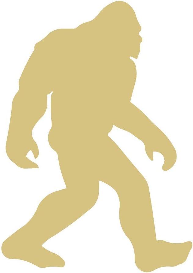 Bigfoot 5 ☆ Free shipping on posting reviews popular Cutout Unfinished Wood Sasquatch S Door Hanger Halloween
