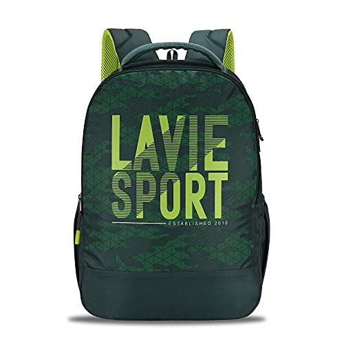 Lavie Sport Grove 34 Ltrs Casual Backpack   School College bag for Boys & Girls (Green)