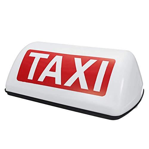 Huante 12V Impermeable SeeAl Superior Medidor MagnéTico LáMpara de Cabina Luz LED LáMpara de SeeAl Taxi - Blanco