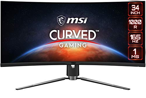 MSI MPG ARTYMIS 343CQR Monitor Gaming Curvo 34', Display 21:9 WQHD (3440 x 1440), 165 Hz, 1ms, curvatura 1000R, Pannello VA, Mystic Light RGB, MSI CONSOLE MODE