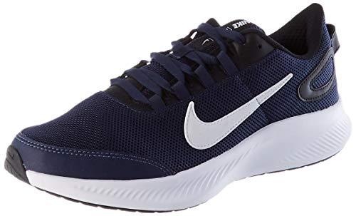 Nike Runallday 2, Zapatillas para Caminar Hombre, Midnight Navy/White-Black, 43 EU