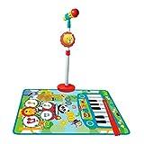 CLAUDIO REIG- Alfombra BATERIA Y Piano Fisher Price con Micro DE PIE Y Baquetas,...