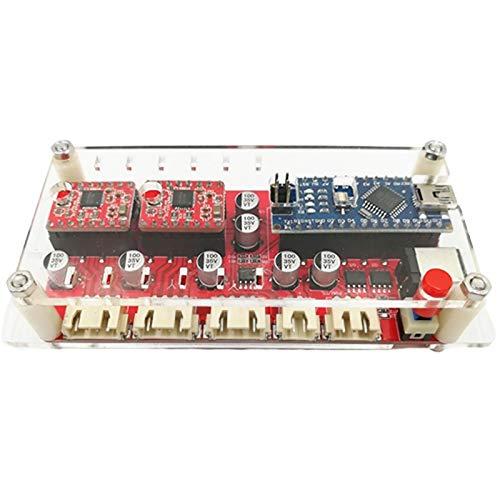 JVSISM USB XY Controlador de Placa de Control de 2 Ejes Cortador CNC MáQuina de Grabado Parte Controlador de Motor Paso una Paso Controlador de Eje Doble Y