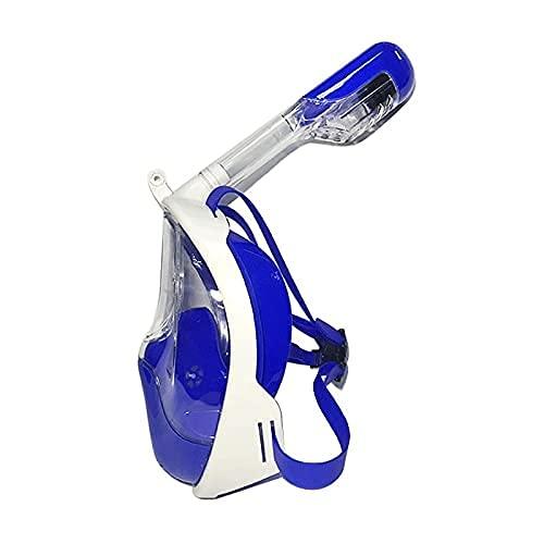 AWJ Máscara de Snorkel de Silicona con 180 & deg;Conjunto de Snorkel seco con arnés antivaho Sellado y Vista panorámica para Adultos