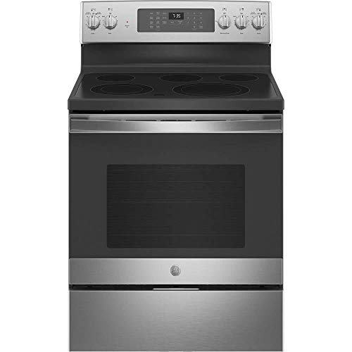 GE JB735SPSS 5.3 Cu. Ft. Freestanding Electric Convection Range with Hot Air Frying