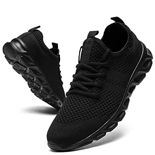 GHFKKB Damen Schuhe Turnschuhe Sportschuhe Sneaker Schwarz Outdoor Leichtgewichts Laufschuhe Fitness Atmungsaktiv Sommerschuhe Wanderschuhe Gym Walking Running Tennis Shoes 39