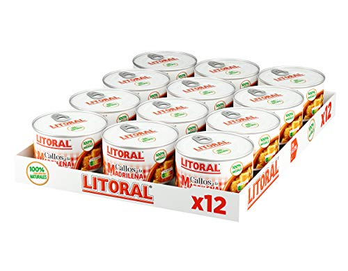 LITORAL Callos Madrileña - Plato Preparado Sin Gluten - Pack de 12x380g - Total: 4.56kg