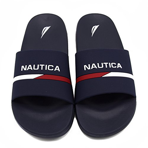 Nautica Kids Youth Slip-On Sandal Athletic Slide - Big Kid - Little Kid Boys - Girls-Stono 2 Youth-Navy-6