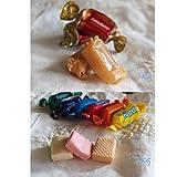 SMARTY BOX 1Kg Caramelos Toffee Blandos, 1 KG Caramelos Masticables de Frutas, Sin Gluten, Fabricados en España