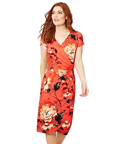 Joe Browns Patterned Wrap Jersey Dress for Summer Robe décontractée, Rouge, 38 Femme