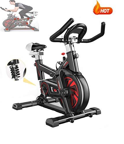 AARRM Bicicletas Spinning Indoor,Bicicleta estática de Spinning Deportiva,Resistencia Infinita para el hogar Bicicleta de Spinning con Asiento Ajustable,Muelle Amortiguador Profesional,Adultos Unisex