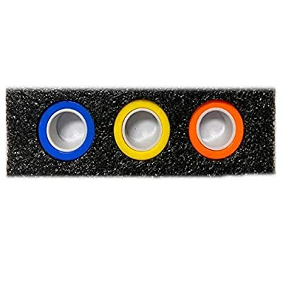Magnetic Rings Toy Anti-Stress Fingertip Toys Anxiety Stress Relief Magical Ring PK Props Stage Tools Decompression Finger Game Trick Play Gadget for Adults Teen 3Pcs from FURUN
