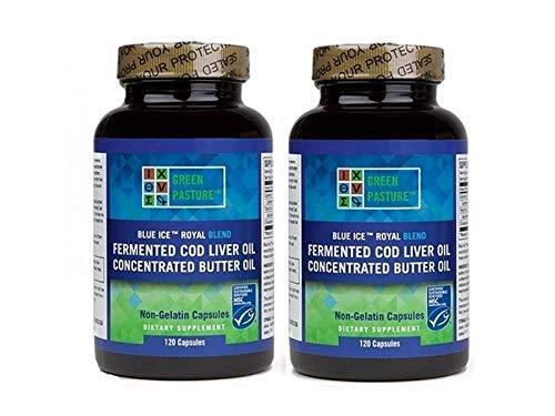Green Pasture Blue Ice Royal Butter Oil Fermented Cod Liver Oil Blend 240
