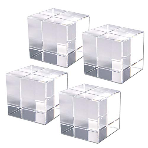 日興 インシュレーター 4個セット キューブベース クリスタルガラス 人工水晶 NKTR-0550 40x40x40mmC2