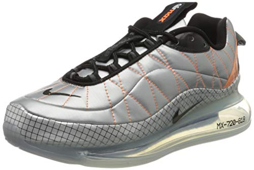 Nike Damen W MX-720-818 Laufschuh, Metallic Silver Black Total Orange, 39 EU