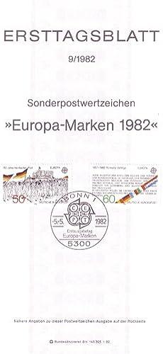 Goldhahn BRD Ersttagsblatt 9 1982 auf dünnem Papier Briefmarken für Sammler