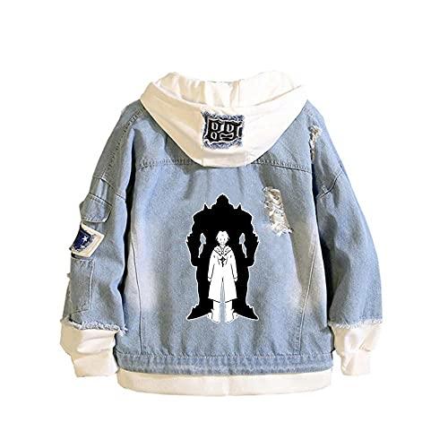 Xiaocc Chaqueta, Disfraz de Anime, Sudadera con Capucha, Chaqueta, Pantalones Vaqueros Casuales, Prendas de Vestir Exteriores para Hombres, Mujeres, jvenes, alquimista Fullmetal