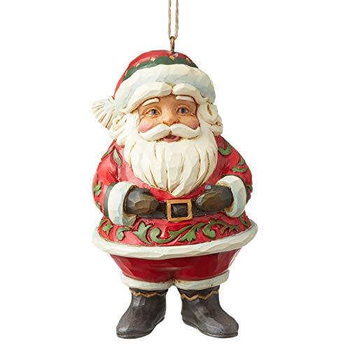 Jim Shore Heartwood Creek Sospensione Mini Babbo Natale Jolly, 10.5 cm