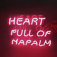 ネオンサイン、『HEART FULL OF NAPALM』NEON SIGN 、ディスプレイ サインボード、ギフト、 省エネ、バー、カフェ、喫茶店、広告用看板、クラブ及び娯楽場所等 インテリア…
