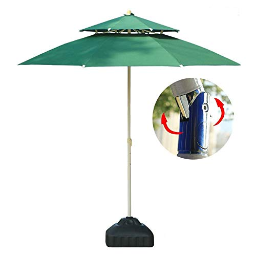 NMDD Parasols 7.5'/230cm Garden Patio Table Umbrella With Push Button Tilt, Perfect For Outdoor Yard, Beach Commercial Event Market, Camping, Pool Side (Color : Green, Size : 7.5 Ft/230cm)