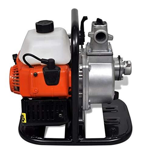 Tidyard Benzinbetriebene Wasserpumpe 2 Takt 1,45 kW 0,95 l Benzinwasserpumpe Benzin-Wasserpumpe 32 x 26 x 32 cm