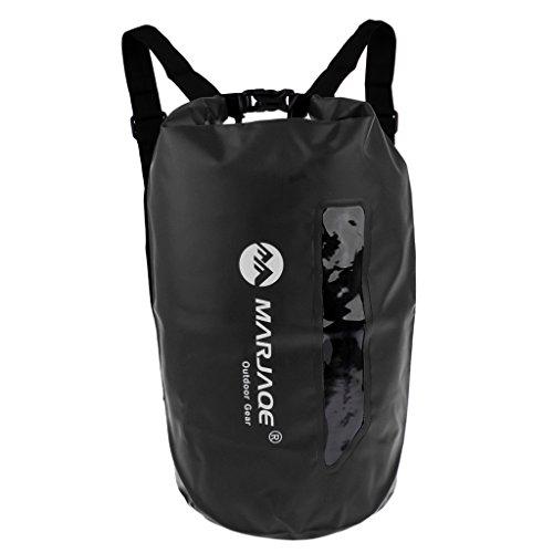 D DOLITY Agua Densidad Funda–Petate Dry Bag Mochila para secar Saco Roll Saco Roll Saco Bolsa Camping Deportes acuáticos Saco, Negro