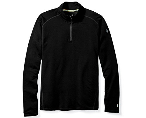 Smartwool Men's ¼ Zip Pullover - Merino 150 Wool Sweater Black Large BLACK