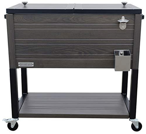 Permasteel PS-205-GRY-AM 80 Quart Patio Cooler, Warm Gray
