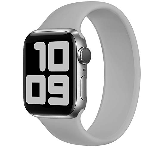 Strawberry Apple Pies - Compatible for Apple Watch Silicone Solo Loop Band Strap 38mm 40mm 42mm 44mm, Sports Wristband Replacement Band for Iwatch Series 6/5/4/3/2/1 (Gray, Small 38mm/40mm)