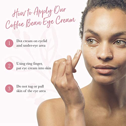 41mvzAIs1DL - 100% PURE Coffee Bean Caffeine Eye Cream for Wrinkles, Anti-Aging, Dark Circles Under Eye Treatment for Eyelids and Under Eye Area - 1 Fl Oz