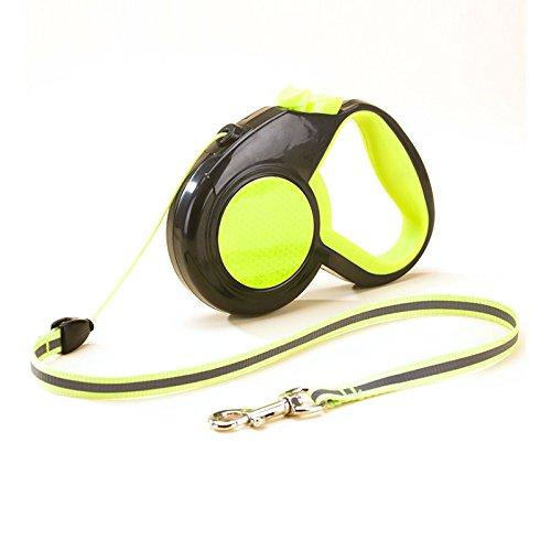 Alihoo Einziehbare Hundeleine, 8m Einziehbare Hundeleine, reflektierendes automatisches Teleskop-Zugseil, EIN-Knopf-Break & Lock, verheddert Sich Nicht, bis zu 30kg (8M Green)