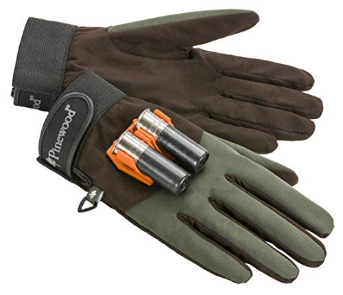 Pinewood Herren Quick Reloader Handschuh, Moosgreen/D.Brown, 9 (2er Pack)