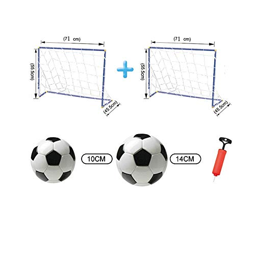 Belleashy Fußball-Net Kinderfußball-Ziel-Rahmen-einfaches doppeltes Ziel, das Fußball-Ziel für Kindermontage faltet Tragbare Montage Innenaußen Fußballtore (Color : C1, Size : 71 * 56 * 46CM)