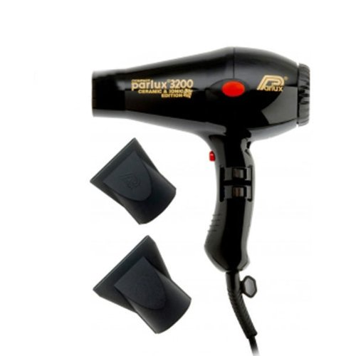 Parlux 3200 - Secador de pelo iónico compacto (cerámica), color negro