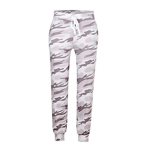 IHGWE Pantalones de yoga para mujer de ocio, talla grande, cintura elástica, con cordón, holgados, cómodos, para las cuatro estaciones Negro L