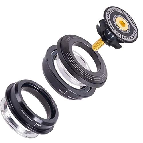 Tuimiyisou Bike Headset Bearings Concealed Bearing Set Aluminum Alloy Black for Mountain Bike 44mm