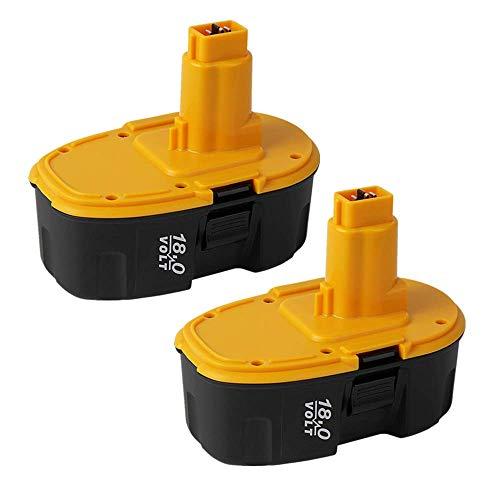 Coolsoul Batería de repuesto para Dewalt DC9096, DC9099, DW9095, DW9096, DW9098, DE9096, DE9096, DE9096, DE9039, DE9095, DE9098 y DE9503 (2 unidades, 18 V)