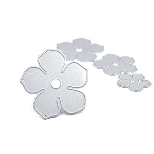 Troqueles de corte de metal para la fabricación de tarjetas, 4 piezas de metal flores DIY troqueles de corte troquelado plantilla decorativa Scrapbooking Craft