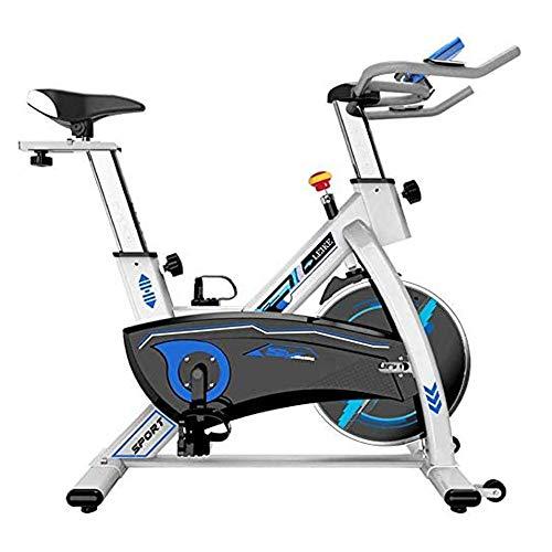 WJFXJQ Bicicleta estática, Cubierta Ciclismo Bicicleta estacionaria, Manillar y el Asiento cómodo de Spin Bicicleta estática con el Monitor LCD de Gimnasio en casa