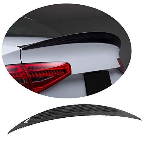 MCARCAR KIT Trunk Spoiler fits Audi S4 Sedan 2013-2016 Factory Outlet Carbon Fiber CF Rear Boot Lid Spoiler Wing Lip