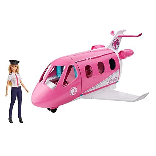 Barbie - Dreamhouse Wymarzony Samolot z Lalką Pilotem, Wielokolorowy, GJB33