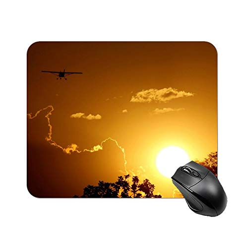Gold Sunset Drone Mouse Pad 9.8 X 7.8 in