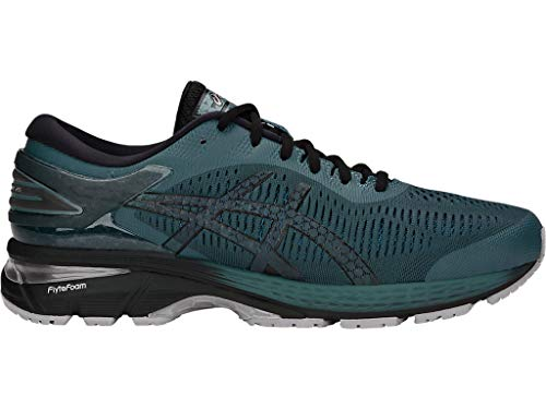 ASICS Men's Gel-Kayano 25 Running Shoes, 7M, IRONCLAD/Black
